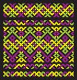 орнамент вышивки цвета Стоковая Фотография RF