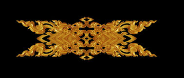 Орнамент года сбора винограда покрытого золотом флористического Стоковое Изображение RF