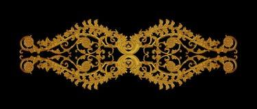 Орнамент года сбора винограда покрытого золотом флористического Стоковая Фотография RF