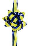 Орнамент, желтый цвет и синь цветка Стоковое Изображение