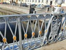 Орнамент загородки моста стоковая фотография rf