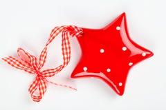 Орнамент звезды рождества фарфора Стоковое Фото