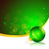 орнамент зеленого цвета рождества карточки Стоковая Фотография RF