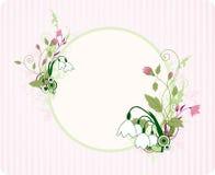 орнамент знамени флористический круглый Иллюстрация вектора
