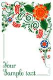 орнамент знамени флористический Стоковое Фото