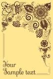 орнамент знамени флористический Стоковые Фото