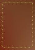 орнамент золота крышки коричневого цвета книги Стоковое Изображение