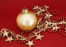 орнамент золота рождества стоковая фотография rf