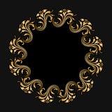 Орнамент золота вектора круглый Стоковое фото RF