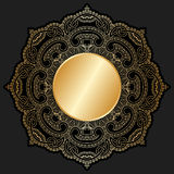 Орнамент золота вектора. Стоковые Фото