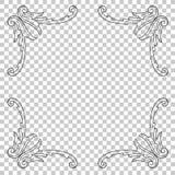Орнамент изолята в стиле барокко Стоковое фото RF
