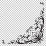 Орнамент изолята угловой в стиле барокко Стоковая Фотография RF