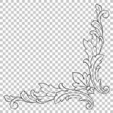 Орнамент изолята угловой в стиле барокко Стоковые Фотографии RF