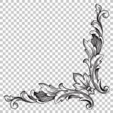 Орнамент изолята угловой в стиле барокко иллюстрация штока