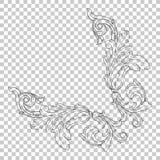 Орнамент изолята угловой в стиле барокко иллюстрация вектора