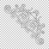 Орнамент изолята угловой Стоковые Изображения RF