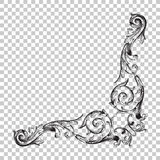 Орнамент изолята угловой иллюстрация штока