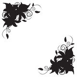 Орнамент лилии угловой стоковое изображение rf