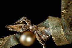 Орнамент и тесемка золота Стоковое Изображение RF