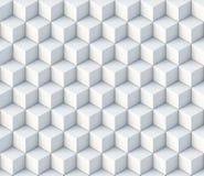 орнамент картины кубов 3d безшовный Стоковая Фотография