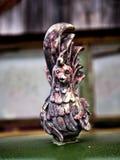 Орнамент клобука тележки петуха на старой тележке Стоковое Изображение