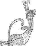 орнамент кота Стоковая Фотография