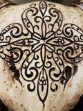 Орнамент красоты на черепе Стоковая Фотография RF