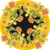 Орнамент круга год сбора винограда флористический иллюстрация вектора