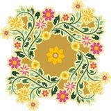 Орнамент круга год сбора винограда иллюстрация штока