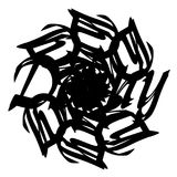 Орнамент круга созданный с письмом иллюстрация штока