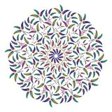 Орнамент круглого пера этнический Стоковые Фотографии RF