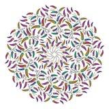 Орнамент круглого пера этнический Стоковые Фото