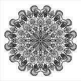 Орнамент круговой мандалы картины мексиканские этнические и illustrat элементов расцветки животных Стоковые Изображения