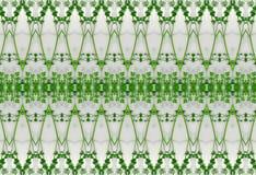 Орнамент листьев зеленого цвета в льде Стоковые Изображения