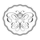 орнамент логоса диаманта бабочки Стоковая Фотография RF
