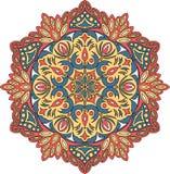 Орнамент мандалы контура вектора Восточная круглая картина стоковая фотография rf