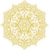 Орнамент мандалы контура вектора Восточная круглая картина стоковое изображение