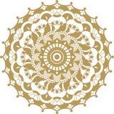 Орнамент мандалы контура вектора золотой Восточная круглая картина стоковое фото
