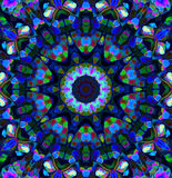 Орнамент мандалы в форме яркого калейдоскопа снежинки Стоковое Изображение RF
