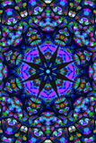 Орнамент мандалы в форме яркого калейдоскопа снежинки Стоковое фото RF
