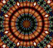 Орнамент мандалы в форме яркого калейдоскопа снежинки Стоковые Фотографии RF