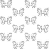 Орнамент на белой предпосылке Стоковые Фотографии RF