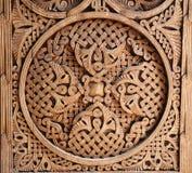 Орнамент на деревянной двери Стоковое Фото