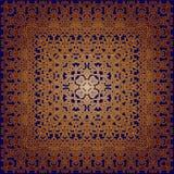 Орнамент на синей предпосылке Стоковые Изображения RF