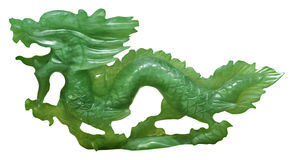 орнамент нефрита дракона стоковое фото