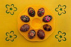 орнамент пасхальныхя тарелки Стоковая Фотография RF