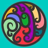 Орнамент покрашенного круга Стоковые Фотографии RF
