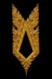 Орнамент покрытого золотом винтажного флористического, тайского стиля искусства Стоковая Фотография RF