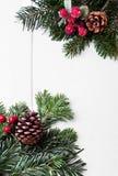 Орнамент праздника рождества, белая предпосылка Стоковое Изображение