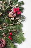 Орнамент праздника рождества, белая предпосылка Стоковые Изображения RF